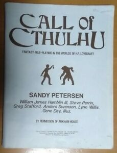Call Of Cthulhu RPG First edition Rulebook Lovecraft Game