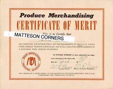 2 Certificates - Winn Dixie Home Store Training School Greenville SC 1946-47