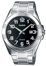 Casio Herrenuhr MTP-1308PD-1BVEF silber schwarz Armbanduhr