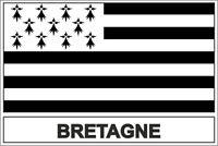 Sticker flag vinyl country  brittany