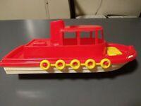 "Vintage American Plastic Toys (Gay Toys Inc) #690 Tug Boat / Cruiser 11 1/2"" USA"