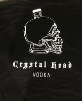 Promotional Double Sided Crystal Head Vodka Black T-Shirt Sz XL Skull Bottle