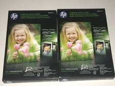 "2 HP Q5440A Glossy Everyday Photo Paper 4"" x 6"" 200 Sheets - Sealed"