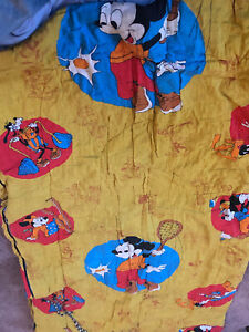 Vintage Disney Mickey Mouse Sports Sleeping Bag 60S 70S As Is