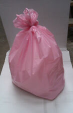 1 BOX (200 SACKS) PINK REFUSE BIN LINER RUBBISH BAGS SACKS HEAVY DUTY