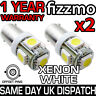 2x 5 SMD LED 433 434 BAX9S H6W OFFSET PINS CAP HID XENON WHITE SIDE LIGHTS UK