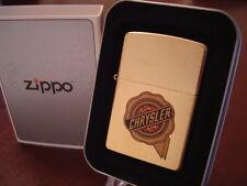 CHRYSLER LOGO GOLD DUST FINISH ZIPPO LIGHTER MINT IN BOX