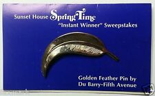"""""""Golden Feather Pin"""" Instant Winner from 1969 Sunset House """"Sweepstakes"""""""