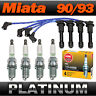 Mazda Miata Platinum Spark Plug & Ignition Wire/Lead Set > Genuine NGK Exact-Fit