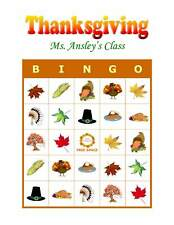 Thanksgiving Party Game & Activity Bingo Cards