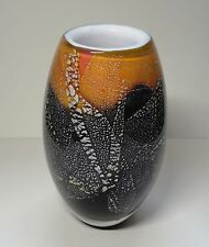 Phoenician Maltese Cased glass Vase Signed 5 ½ Inch