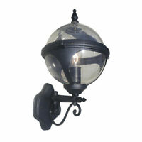 Lighting Black Clear Glass Orb Globe Wall Sconce Pendant Light Lamp NEW US