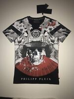 "Philipp Plein New Round Neck T-shirt color Black SS ""Aizen"" size XXL"