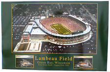 Green Bay Packers Lambeau Field POSTER NFL Aerial First Home Game 8-23-2003