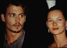 KATE MOSS & JOHNNY DEPP in The Cannes Film Festival - Original 35mm COLOR Slide
