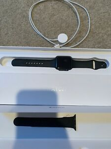 Apple Watch Series 1 42mm Space Gray Aluminum  Smart Watch With Screen Protector