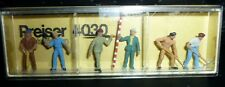 Preiser, Vintage, New Package, Item# 4030, Ho scale, Road Construction Workers,