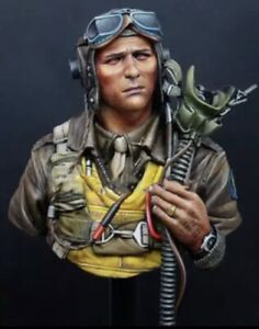 1/10 WW2 US Pilot Bust Unfinished, Unpainted (W)