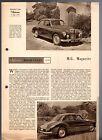 MG Magnette ZB Road Test 1957-58 UK Market Foldout Sales Brochure Autocar