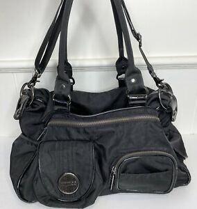 Mimco Zetta Black Large Nappy Baby Bag, overnight bag, inc. change mat GUC strap