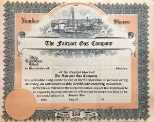 The Fairport Gas Company > Ohio oil & gas stock certificate share