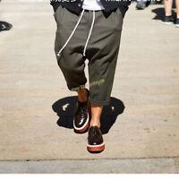 Vintage Harem Pants Slacks Men's Casual Baggy Drop-crotch Trousers Spring Army
