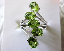 Peridot Ring in 925 Sterling Silver, size 6 -- 4.35 cts
