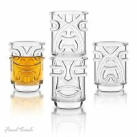 Final Touch TIKI SHOT GLASSES Hawaiian Themed for Cocktail Luau Parties Set of 4