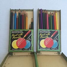 Vtg Eberhard Faber MONGOL Colored Pencils Assortment 743 21 Of 24 Colors 1950