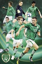 Team Ireland SUPER SIX Football Soccer Team POSTER - Keane, Doyle, McGeady, +++