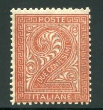 Francobolli italiani rosso