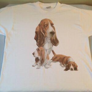 Basset Hound T-Shirt, Size Large