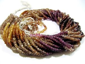 Natural Mult Tundra Sapphire ,Multi Color Faceted Beads 3mm Strand 5 Inches Long