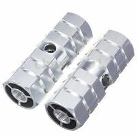 1Pair BMX MTB Bike Bicycle Foot Pegs Aluminum Alloy 3/8'' Axle Pedals Stunt Stan