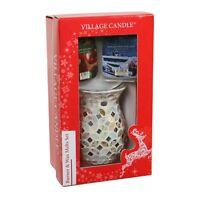 Village Candle Mosaic Burner & Melt Christmas Gift set in Box  23666
