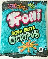 Trolli Sour Brite Octopus Gummy Candy Assorted Flavors Ocean Sea Party 4.25 oz