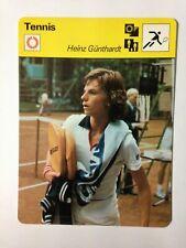 CARTE EDITIONS RENCONTRE 1977 / TENNIS - HEINZ GUNTHARDT