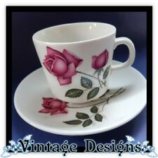 Vintage Johnson Australia Ceramic Tea Cup and Saucer Pink Rose VINTAGE Cup Tea