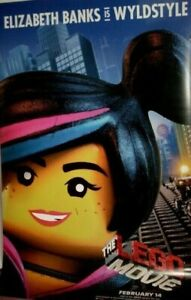 "LEGO MOVIE THE 2014 Cinema Banner Wyldestyle Elizabeth Banks SIZE 94"" x 60"""