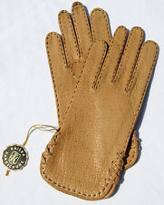 Handschuhe Leder Damen Kaiser Leather Fingerhandschuhe Camel Beige 6 3/4