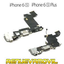 Cable Flex USB Conector Carga Microfono Para iPhone 6S 6S Plus Auriculares Negro