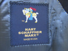 Hart Schaffner Marx Sport Coat 48R Midnight Navy 100% Wool Shipped Dry Cleaned