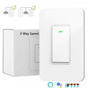 3-way Smart Light Switch, WiFi Light Switch Single Pole or 3-way Switch Alexa