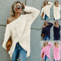 Women Knitwear Knitted Cashmere Sleeve Warm Jumper Pullover Sweater Tops AU