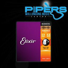 Elixir USA 12-53 Light Nanoweb Phosphor Bronze Acoustic Guitar Strings 16052