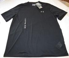 Under Armour UA t shirt L Mens loose Heat Gear Threadborne 003 Black v neck NWT