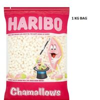 HARIBO MINI MARSHALLOWS WHITE SWEETS 1kg WEDDING CART PARTY CHILDREN'S PARTIES