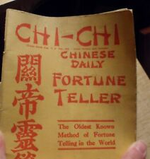 Antique Chi Chi Chinese Daily Fortune Teller Bamboo Sticks and Booklet 1915