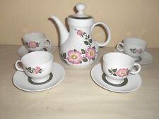 10pc Vintage Winterling Bavarian Pink Floral Tea Set Germany Pitcher Cups Spring