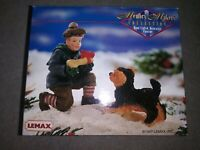 Vintage 1997 Lemax Memory Makers A Gift For Rex Dog Boy Figures Christmas